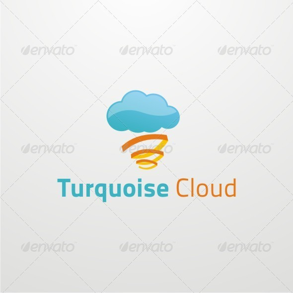 Turquoise Cloud Logo Template - Nature Logo Templates