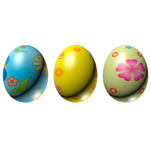 Easter Eggs Set 01 - 3DOcean Item for Sale