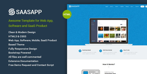 SaasApp – WebApp/Software/SaaS Product Template