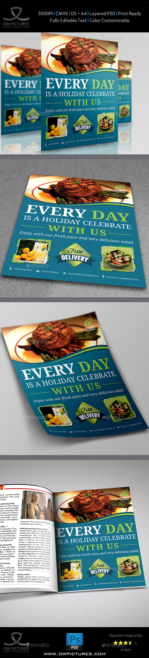 Restaurant Flyer Vol.2 - Restaurant Flyers