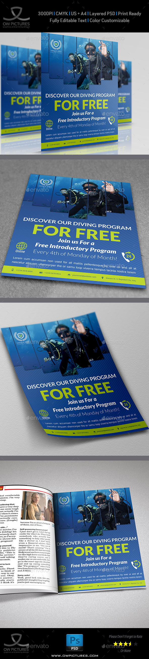 Diving Flyer - Corporate Flyers