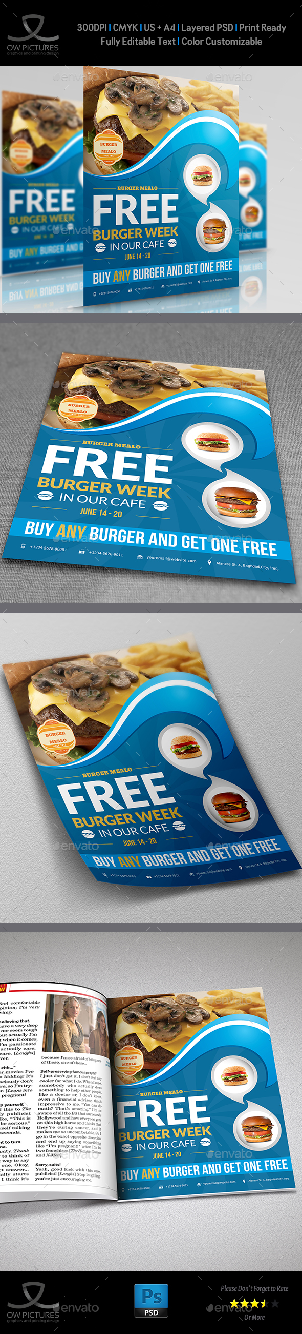 Burger Restaurant Flyer Vol.2