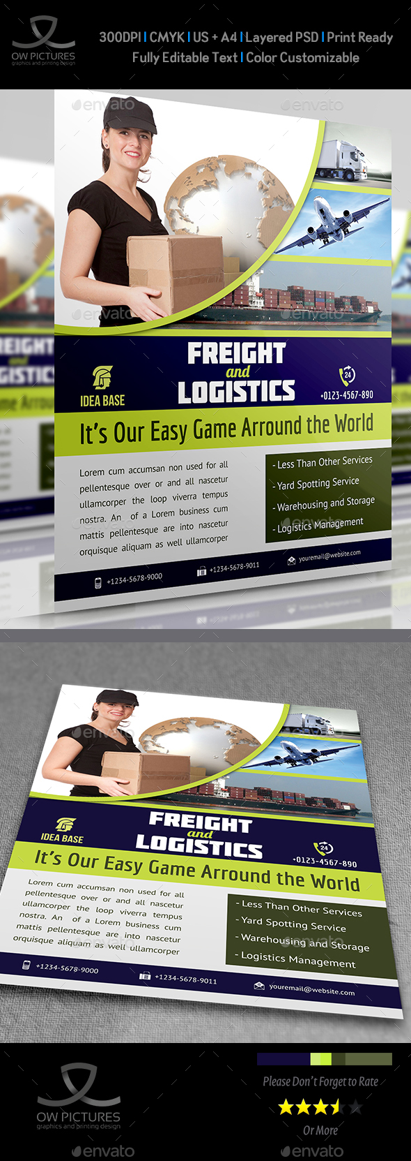 Freight / Shipment Services Flyer Vol.3 - Flyers Print Templates