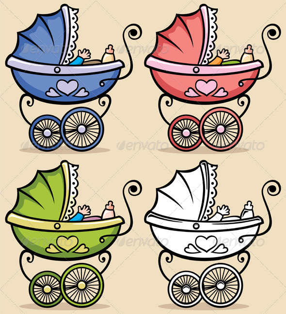 Baby Stroller - Objects Vectors