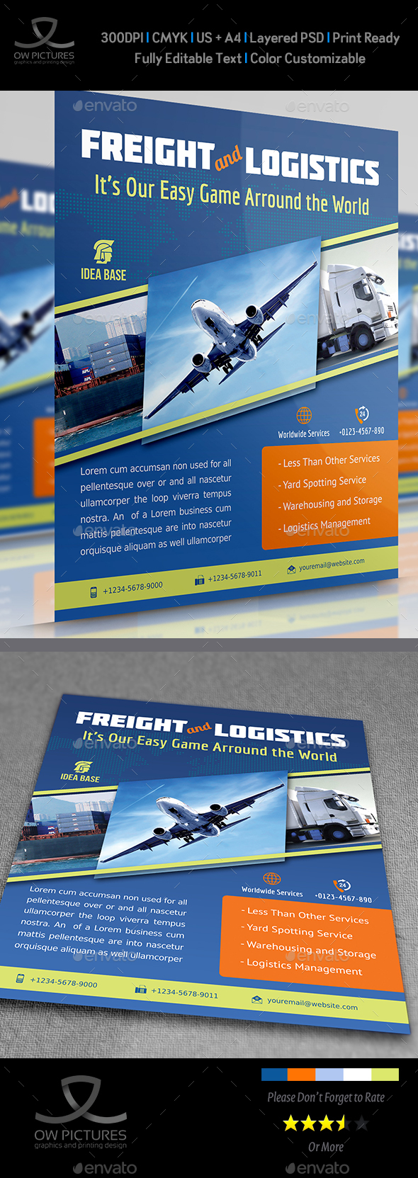 Freight / Shipment Services Flyer Vol.2 - Commerce Flyers