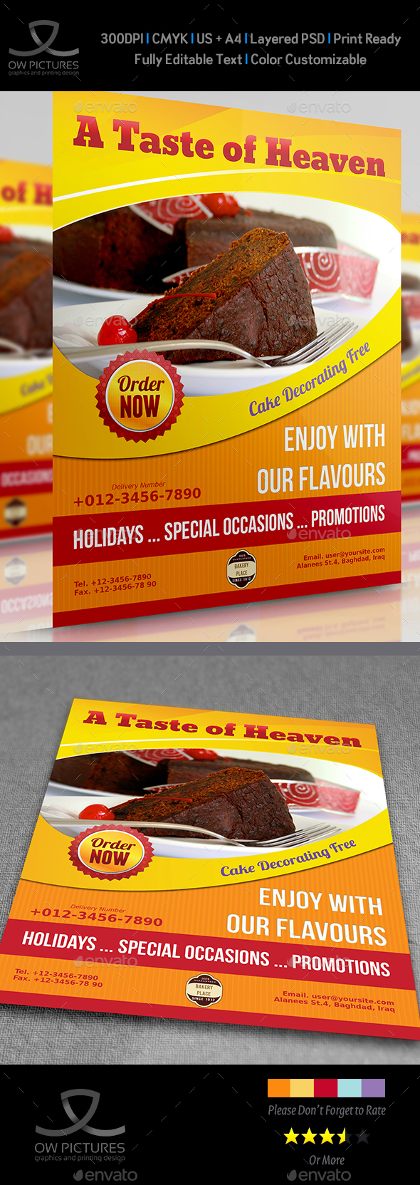 Cake Flyer Vol.3 - Restaurant Flyers