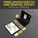 Freelancer Sketch and Graphic Artist Mock-up Template