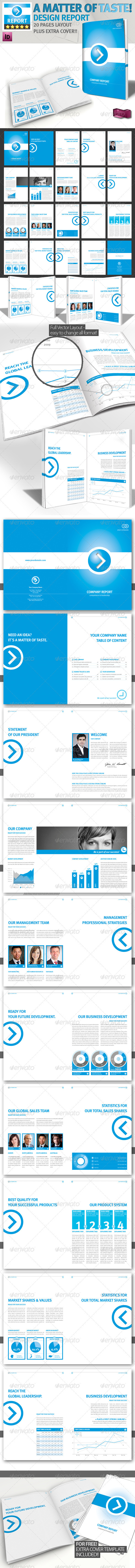 Professional Brochure // Blue Magazine // A4 v1 - Corporate Brochures