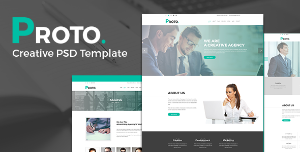 Proto - Creative PSD Template - Corporate PSD Templates