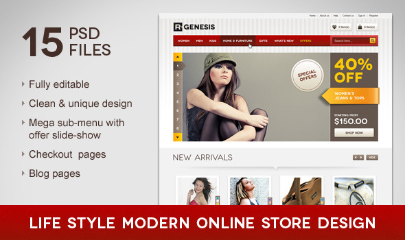 Life Style Modern Online Store Design