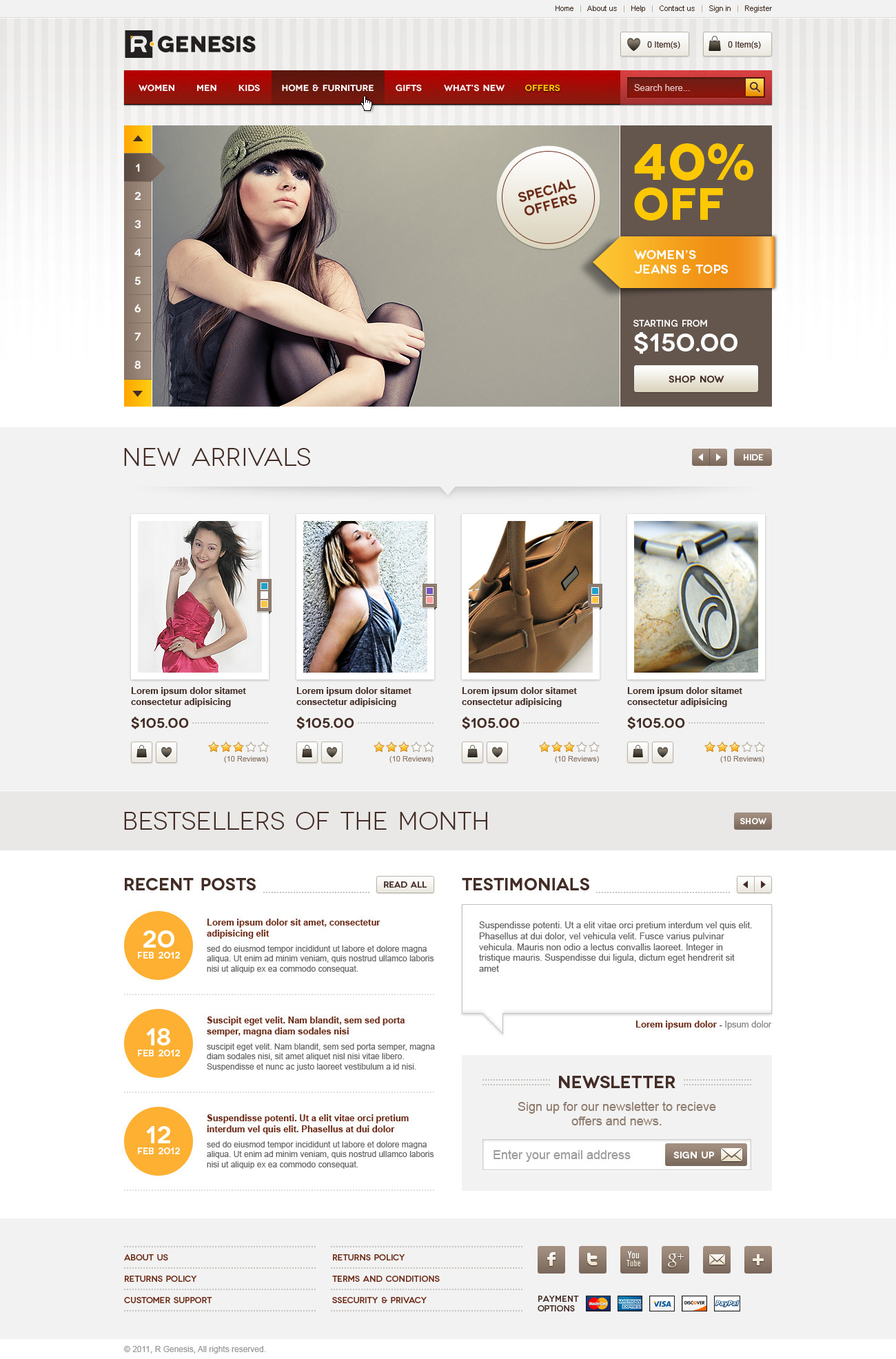 Life style modern online store design by r genesis for Design on line outlet