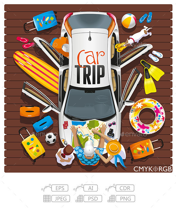 Car Trip - Travel Conceptual