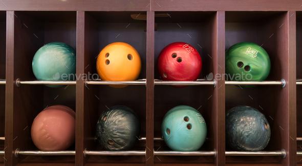 Bowling balls - Stock Photo - Images