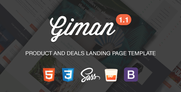 Image of Giman - Product and Deals Landing Page Template