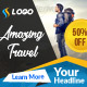 Multipurpose Travel Banner - GraphicRiver Item for Sale