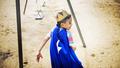 Young Boy Superhero Costume Playground Concept