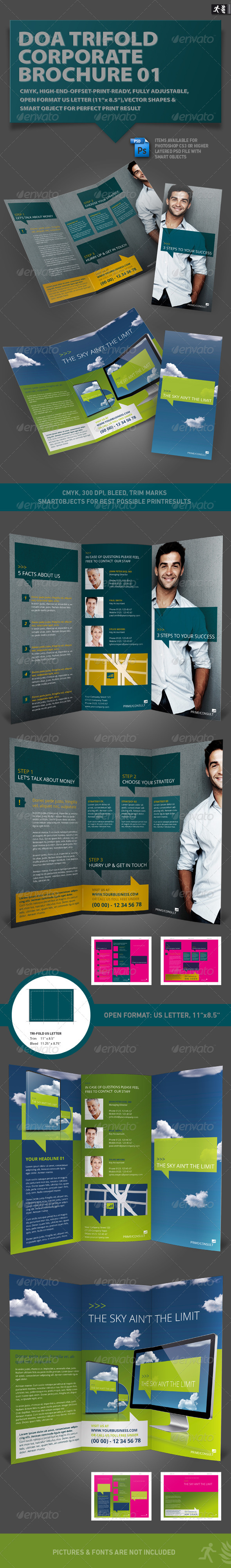 DOA Trifold Corporate Brochure 01 - Informational Brochures
