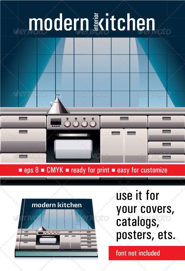 Modern Kitchen - Objects Vectors