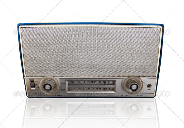 Vintage radio - Stock Photo - Images