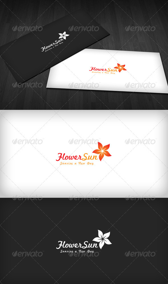 Flower Sun Logo - Nature Logo Templates