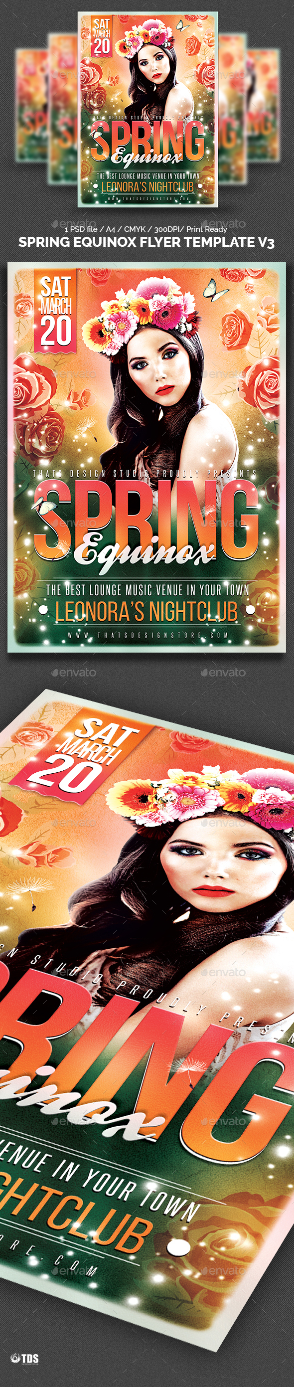 Spring Equinox Flyer Template V3 - Clubs & Parties Events