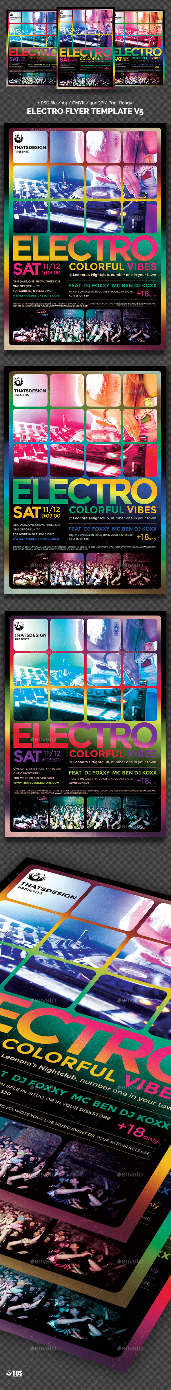 Electro Flyer Template V5 - Clubs & Parties Events