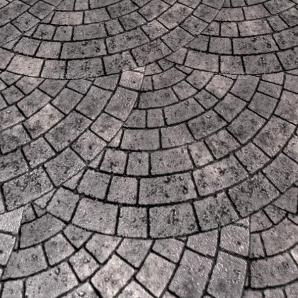 Circular Grey Brick Paving Seamless Texture By Lucky