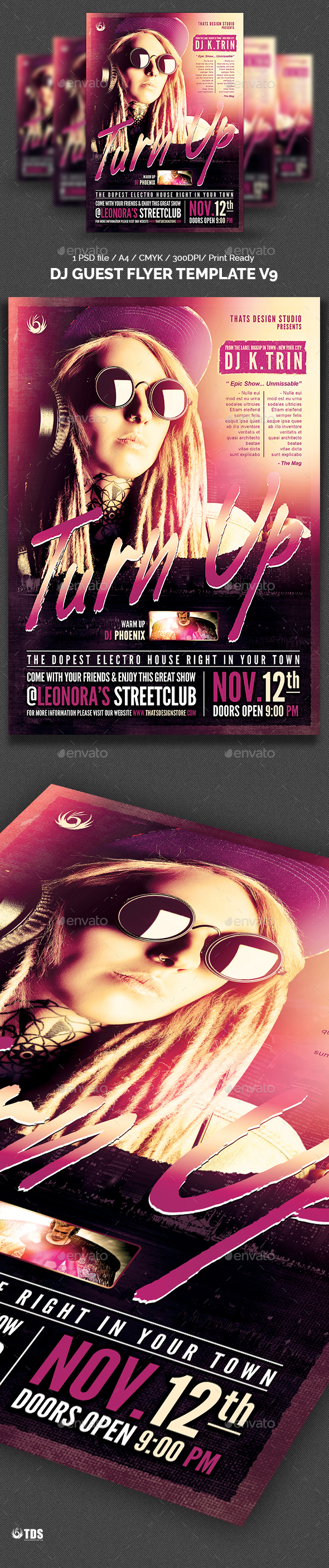Dj Guest Flyer Template V9 - Clubs & Parties Events