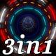 Neon Tunnel - Vj Loop Pack (3in1) - VideoHive Item for Sale