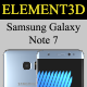 Element3D - Samsung Galaxy Note 7 - 3DOcean Item for Sale