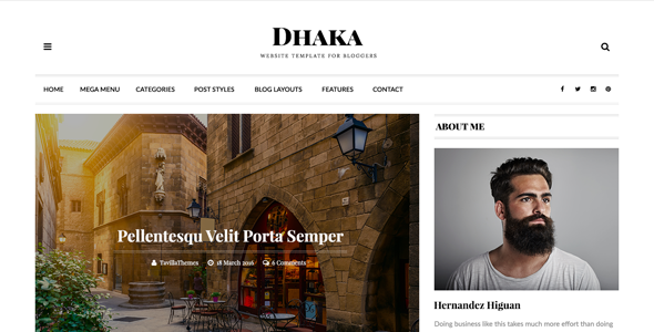 Dhaka – Responsive WordPress Blog Theme