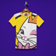Beauty Cat Kids T-Shirt Design - GraphicRiver Item for Sale