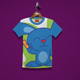 Cute Rabbit Kids T-Shirt Design - GraphicRiver Item for Sale