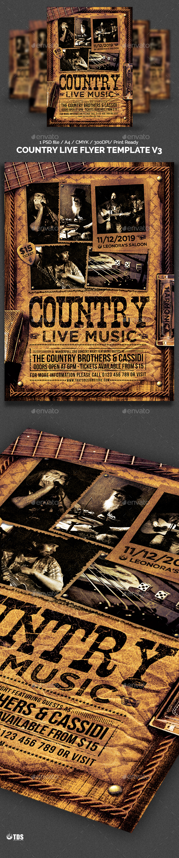 Country Live Flyer Template V3 - Concerts Events