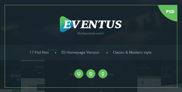 Eventus – Multipurpose Event PSD Templates