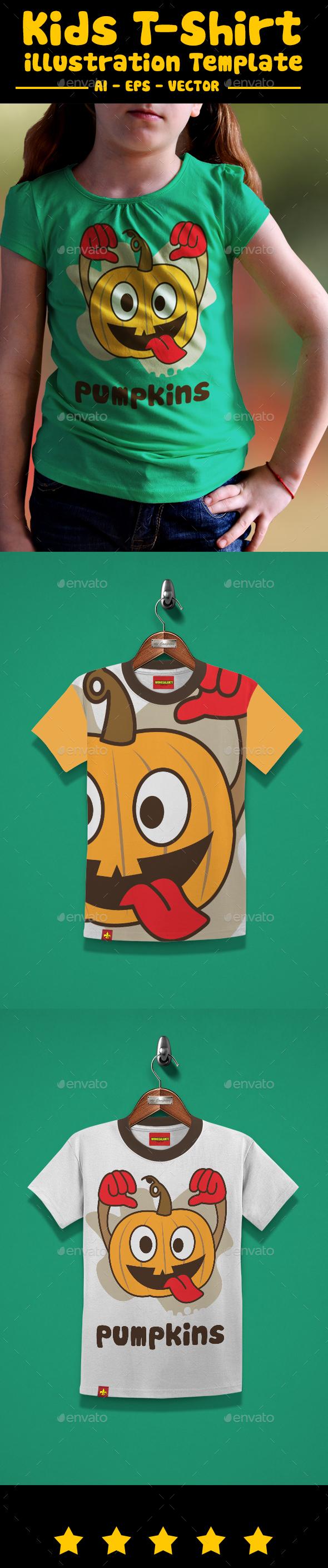 Pumpkins Kids T-Shirt Design