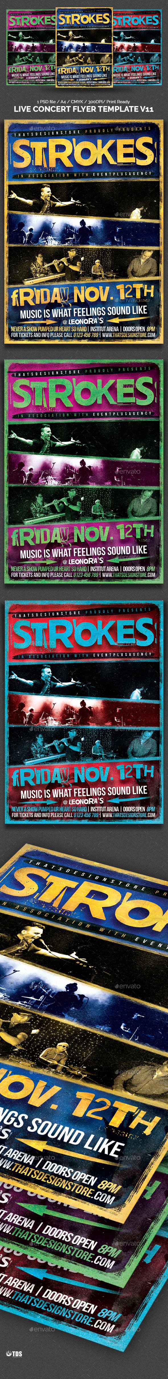 Live Concert Flyer Template V11 - Concerts Events