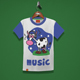 Cow Music Kids T-Shirt Design - GraphicRiver Item for Sale
