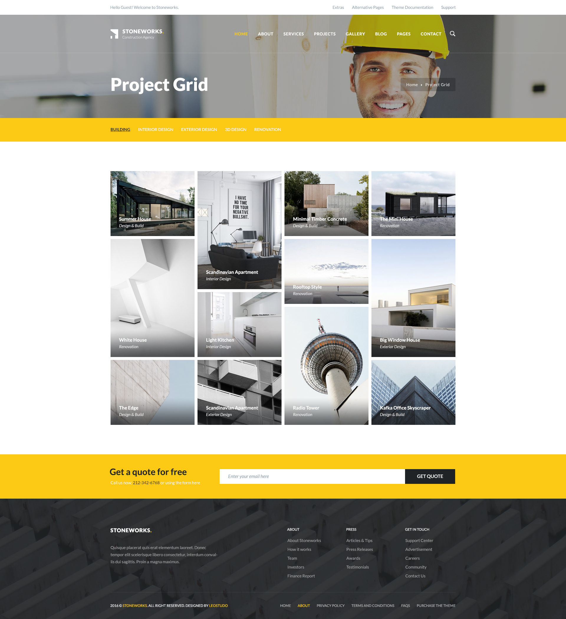 Stoneworks - Construction PSD Template by leostudo | ThemeForest