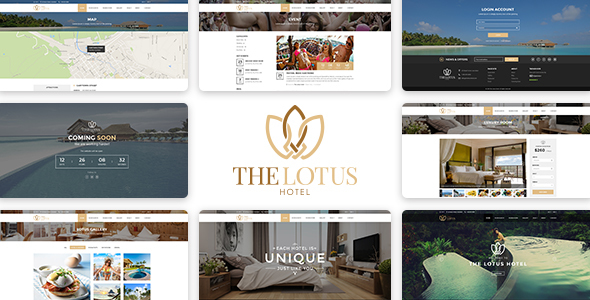 Lotus – Hotel Booking PSD Template