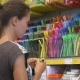 Girl Chooses Among Different Colors Of Highliters - VideoHive Item for Sale