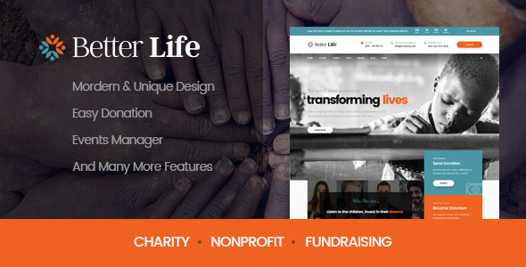 BetterLife – WordPress Theme For Churches And Charity