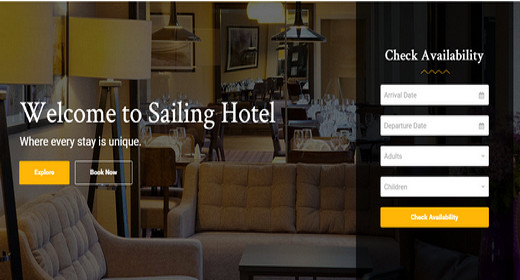 Amazing Hotel Theme WordPress