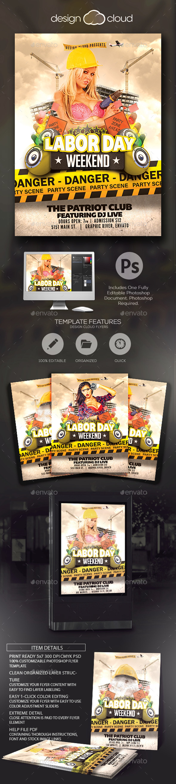 Labor Day Vol 3 Flyer Template - Holidays Events