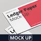 Ledger Paper Mock-Up - 17x11 - GraphicRiver Item for Sale