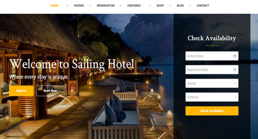 WordPress Theme Hotel Booking