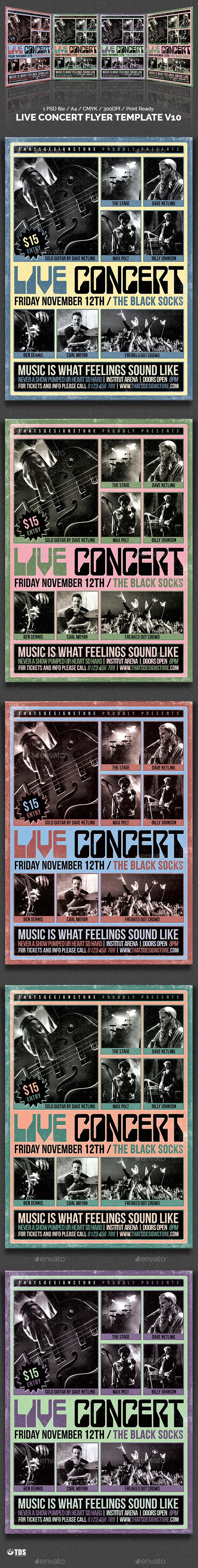 Live Concert Flyer Template V10 - Concerts Events