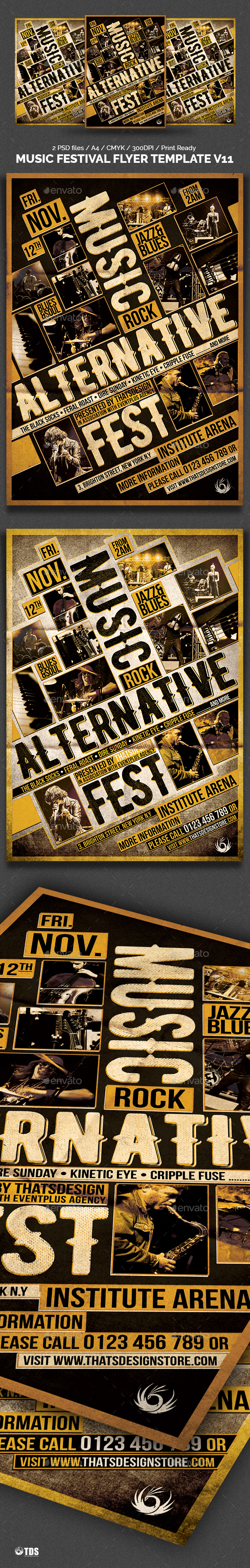 Music Festival Flyer Template V11