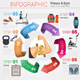 Fitness and Gym Infographics - GraphicRiver Item for Sale