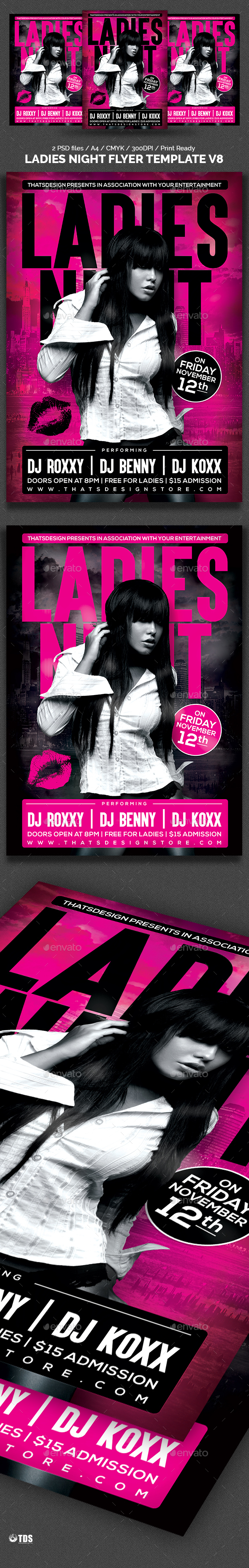 Ladies Night Flyer Template V8 - Clubs & Parties Events